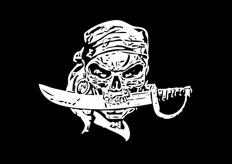 Cráneo del pirata libre illustration