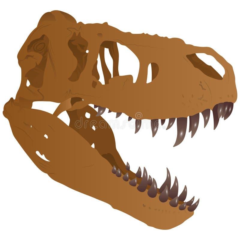Cráneo del tiranosaurio ilustración del vector