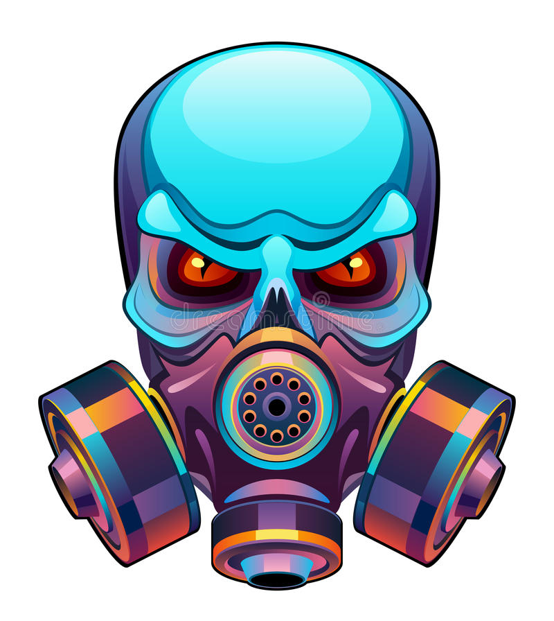 Cráneo en máscara ilustración del vector