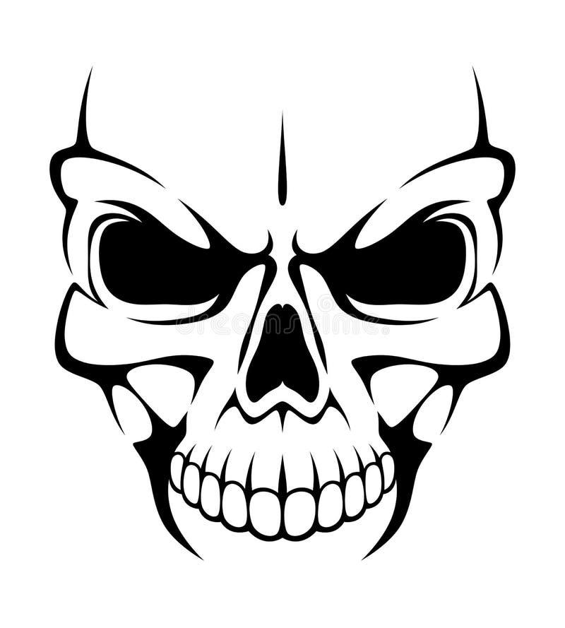 Cráneo enojado ilustración del vector