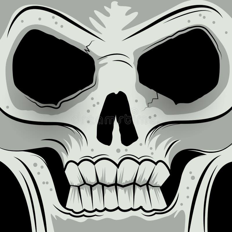 Cráneo enojado hecho frente ajustado libre illustration