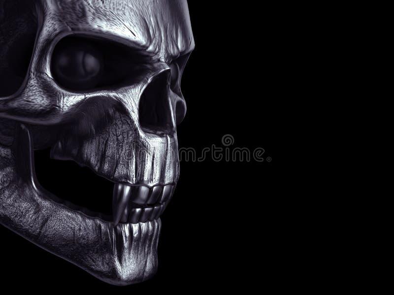 Cráneo espeluznante oscuro del vampiro - tiro del primer libre illustration