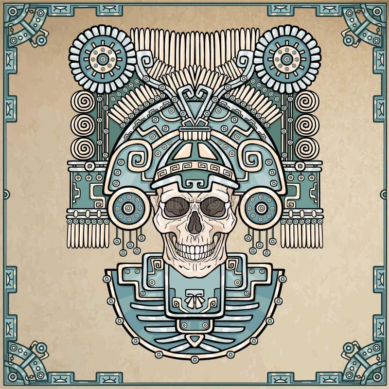 Cráneo estilizado Dios pagano de la muerte libre illustration