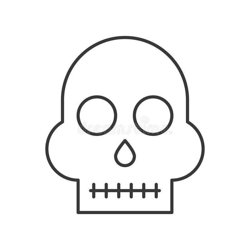 Cráneo humano, movimiento editable del carácter del icono de Halloween libre illustration