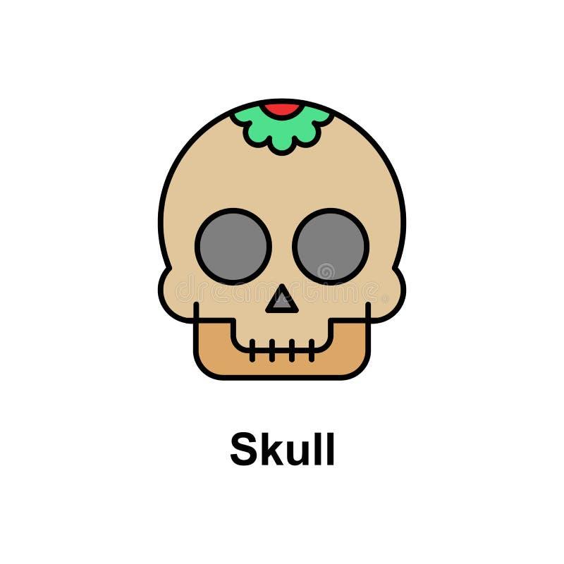 Cráneo, icono decorativo Elemento del icono del color de Cinco de Mayo Icono superior del diseño gráfico de la calidad muestras y stock de ilustración