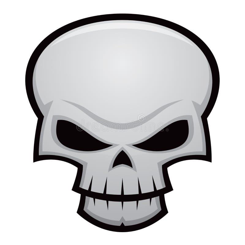 Cráneo malvado ilustración del vector