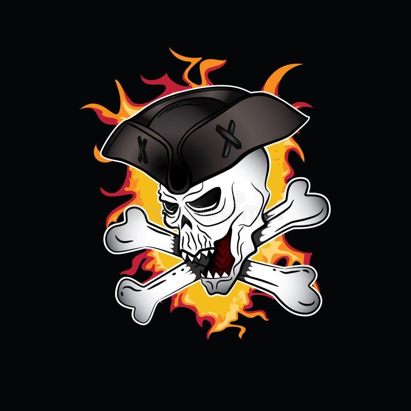 Download Cráneo Malvado De Grito Del Pirata Con El Ejemplo Del Sombrero Stock de ilustración - Ilustración de asustadizo, grunge: 41901072
