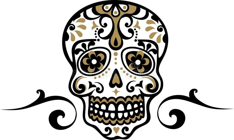 Cráneo mexicano ilustración del vector