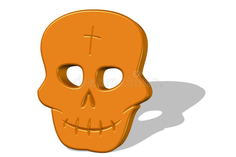 Cráneo para víspera de Todos los Santos 3D ilustración del vector