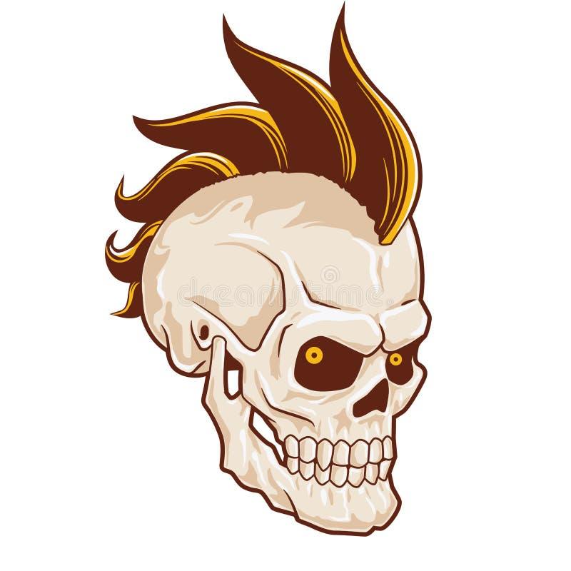 Cráneo punky con el mohawk libre illustration