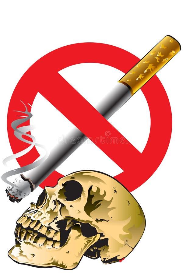 Cráneo y de no fumadores stock de ilustración