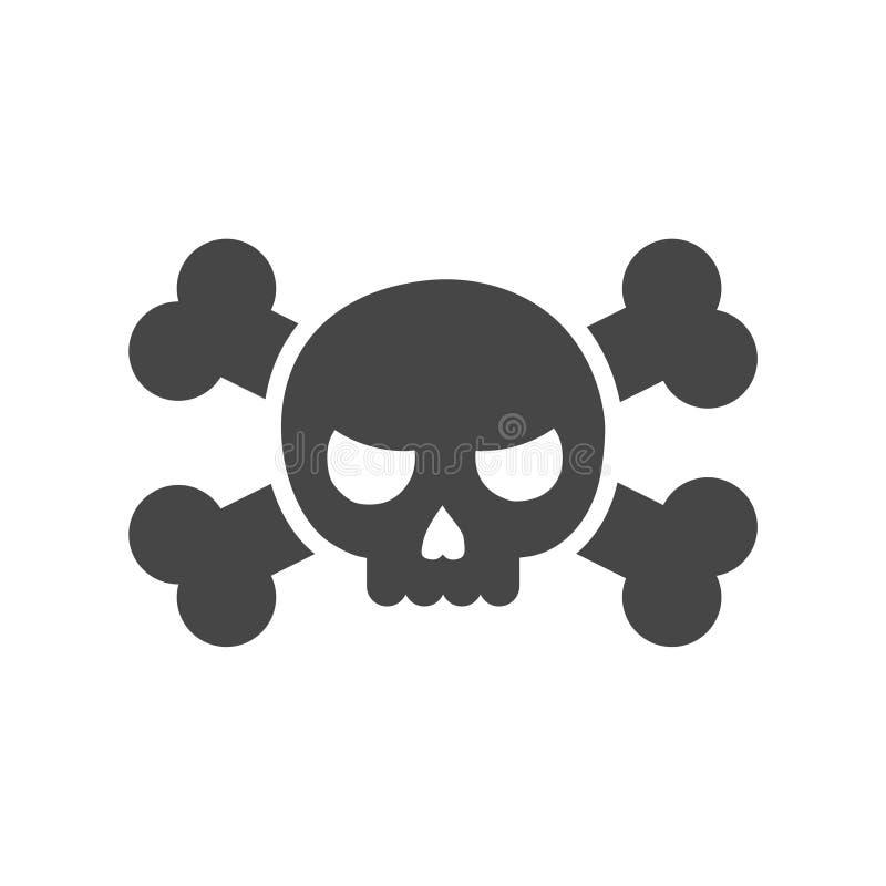 Cráneo y huesos icono o logotipo libre illustration