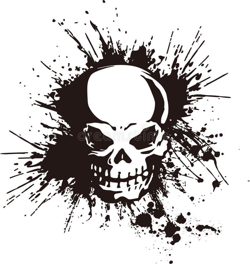 Cráneo y pintura, stock de ilustración