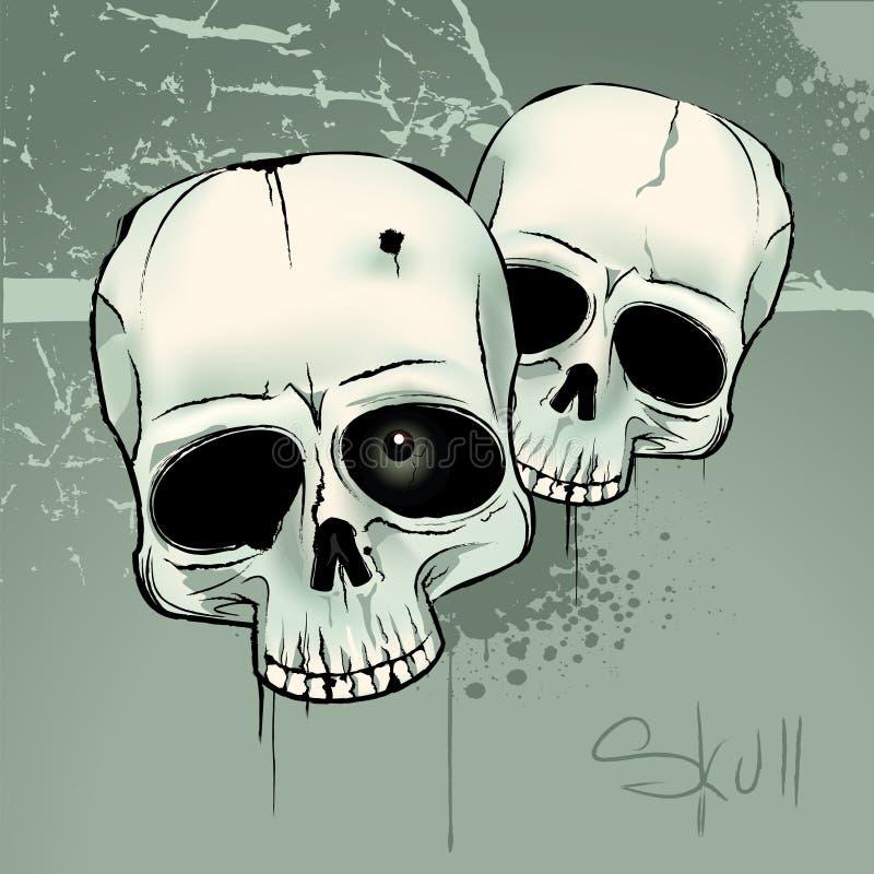 Cráneos stock de ilustración