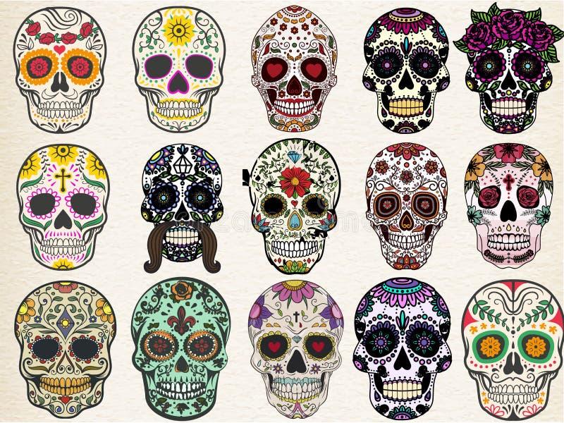 Cráneos del azúcar fijados libre illustration