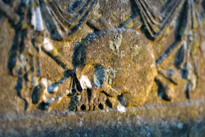 Cráneos graves fotografía de archivo
