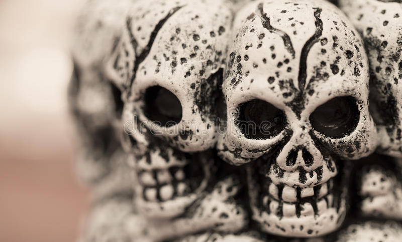 Cráneos para Halloween imagen de archivo