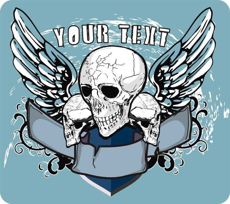 Cráneos y alas libre illustration