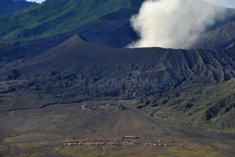 Cráter de Bromo del soporte, Java Oriental, Indonesia foto de archivo