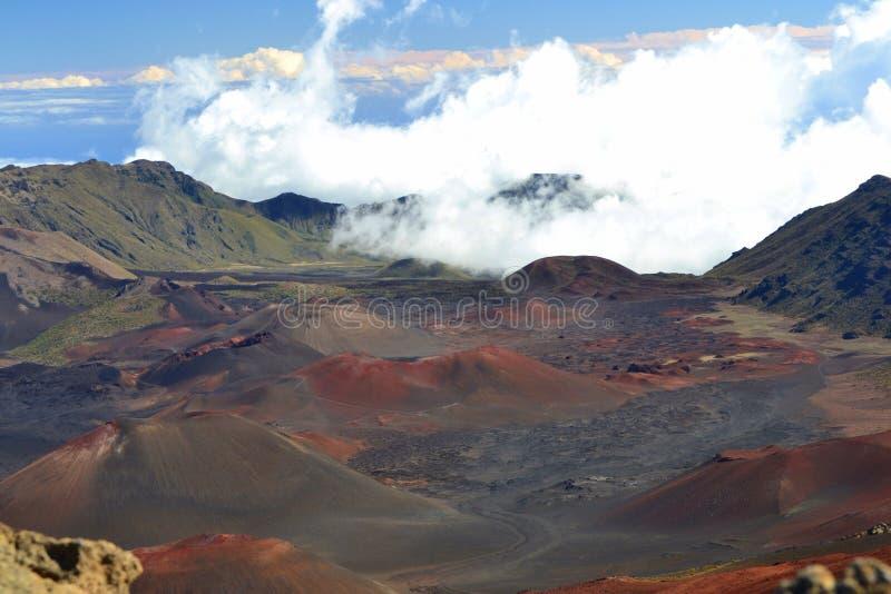 Cráter de Haleakala fotografía de archivo