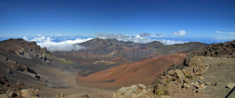 Cráter de Haleakala del montaje, Maui (panorama) imagen de archivo