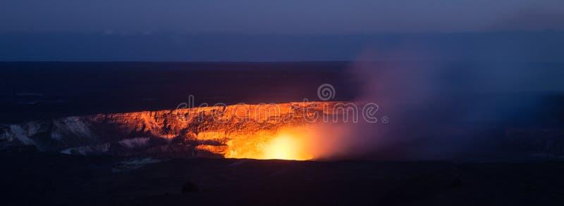 Cráter de Halemaumau fotos de archivo