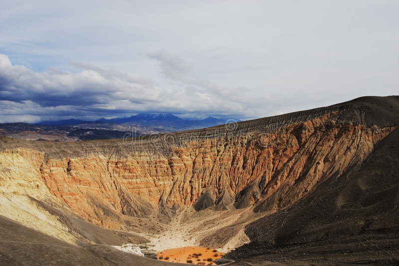 Cráter de Ubehebe fotografía de archivo