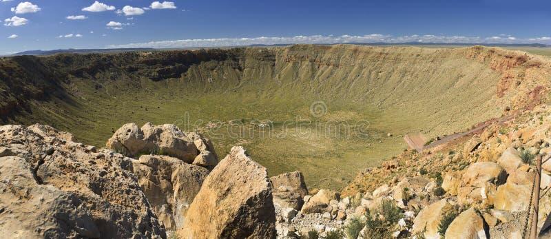 Cráter del meteorito en Arizona imagen de archivo