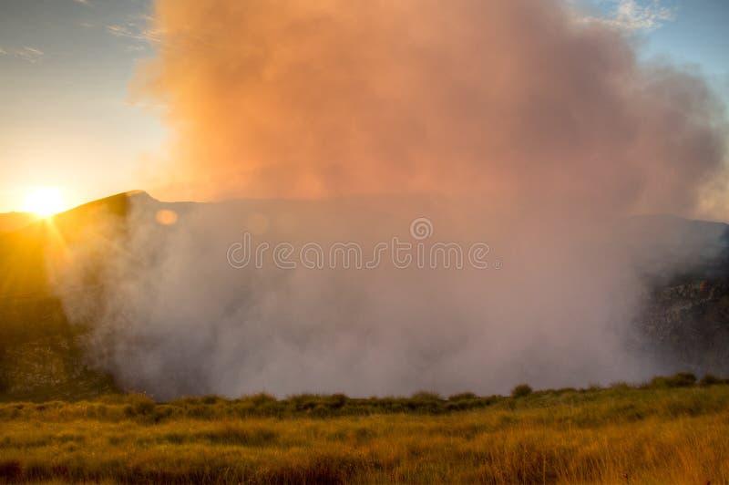 Cráter del volcán de Mombacho cerca de Granada, Nicaragua imagen de archivo libre de regalías