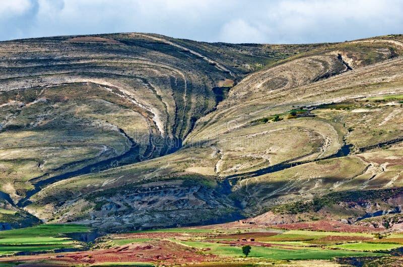 Cráter del volcán Maragua, Bolivia foto de archivo