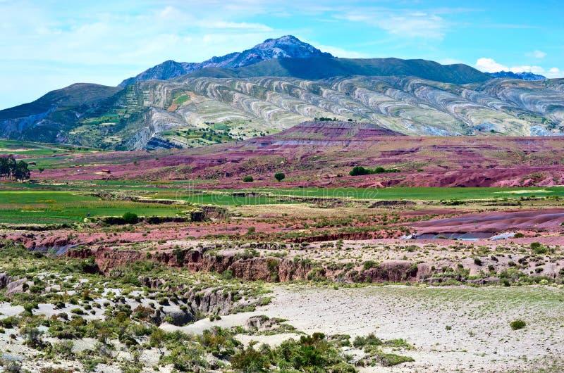 Cráter del volcán Maragua, Bolivia imagenes de archivo