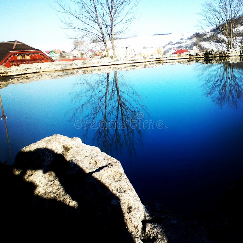 Cráter en el ¾ de RuÅ del né del ¡de VyÅ bachy imagen de archivo