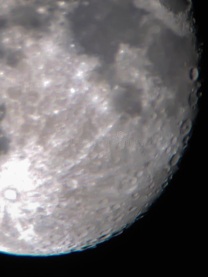 Cráteres de luna foto de archivo libre de regalías