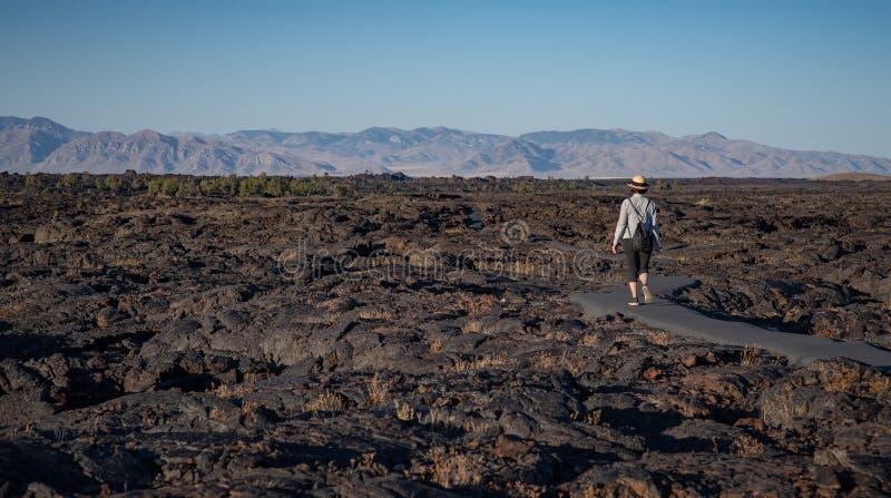 Cráteres del monumento nacional de la luna, Idaho foto de archivo libre de regalías
