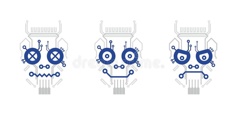 Crâne électrique de plan photo libre de droits