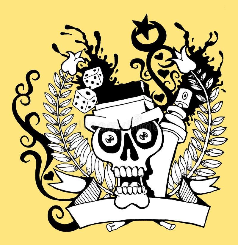 Crâne 01 illustration de vecteur