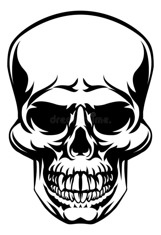 crâne illustration libre de droits