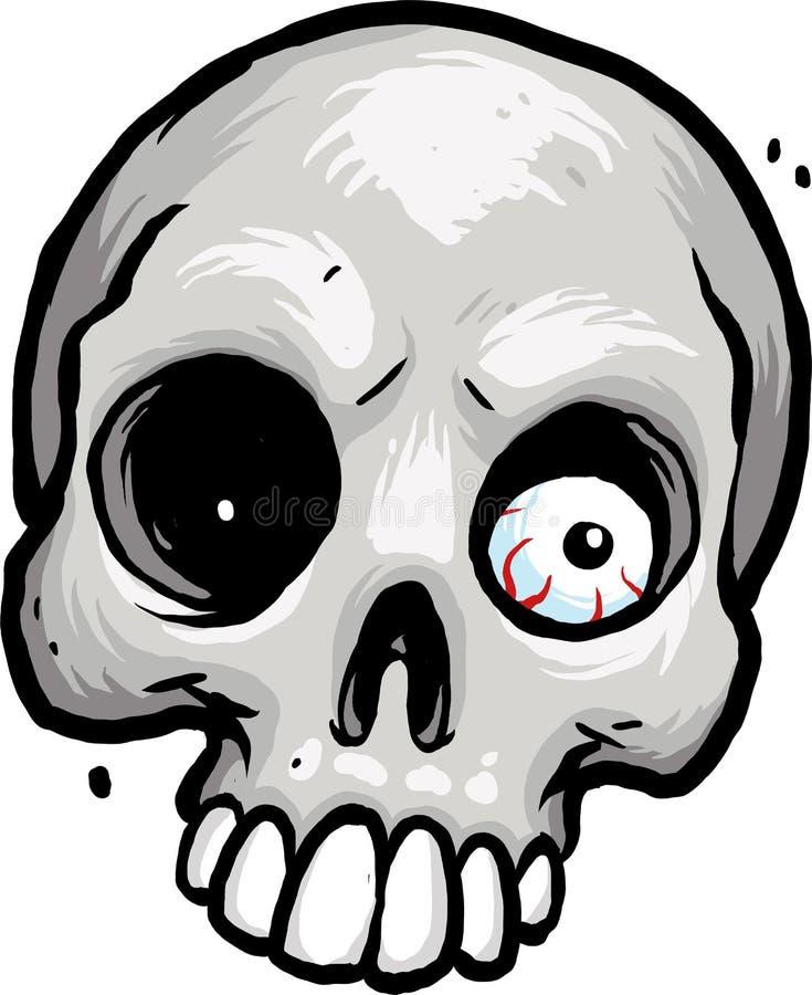 Crâne avec le globe oculaire photographie stock libre de droits