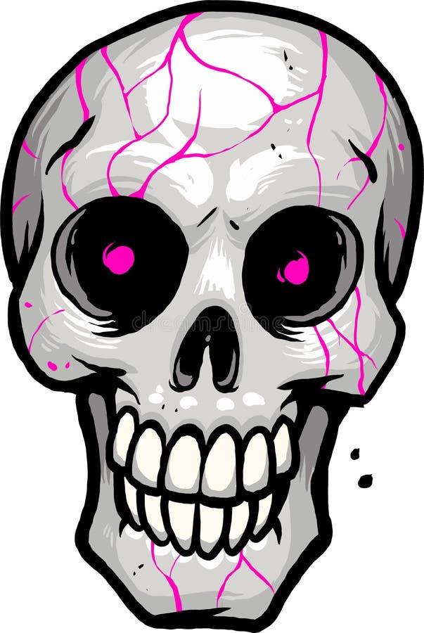 Crâne avec les yeux roses images libres de droits