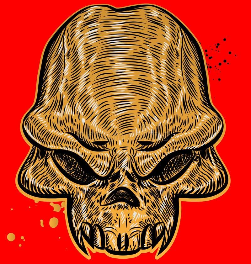 Crâne d'horreur illustration libre de droits