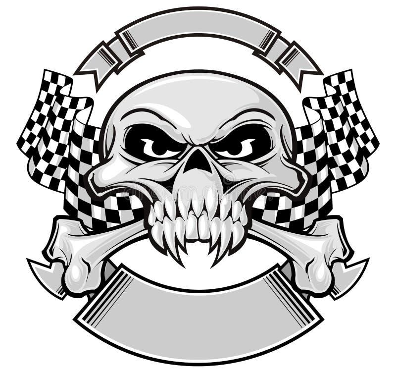 Crâne de champion illustration de vecteur