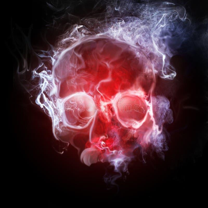 Crâne de fumage illustration de vecteur