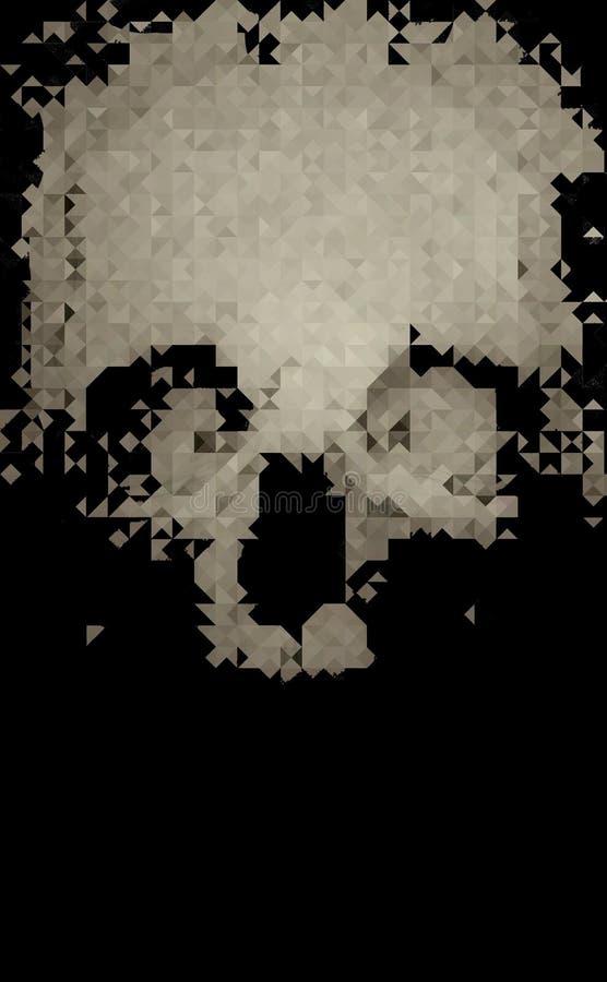 Crâne de mosaïque de pixel images stock