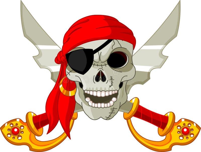 Crâne de pirate illustration libre de droits