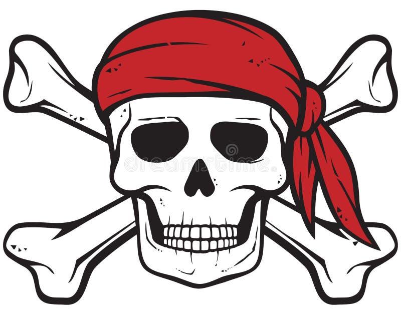 Crâne de pirate illustration de vecteur
