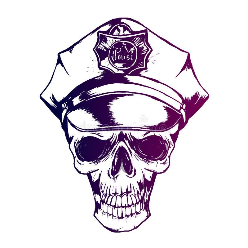 Crâne de police, uniforme de police du chapeau ENV 10 du policier photographie stock libre de droits