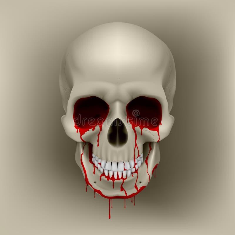 Crâne de purge illustration libre de droits