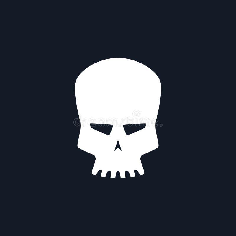 Crâne de robot de silhouette illustration stock