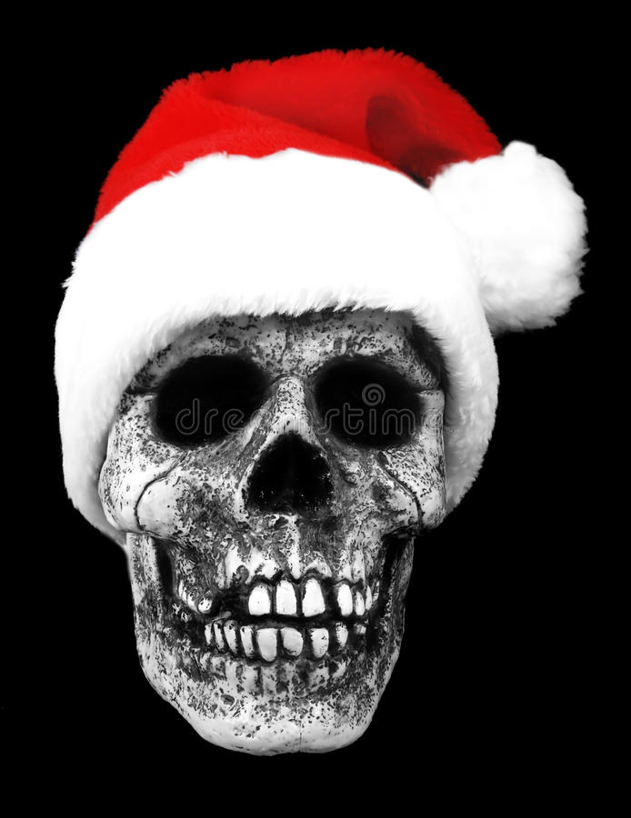 Crâne de Santa photographie stock