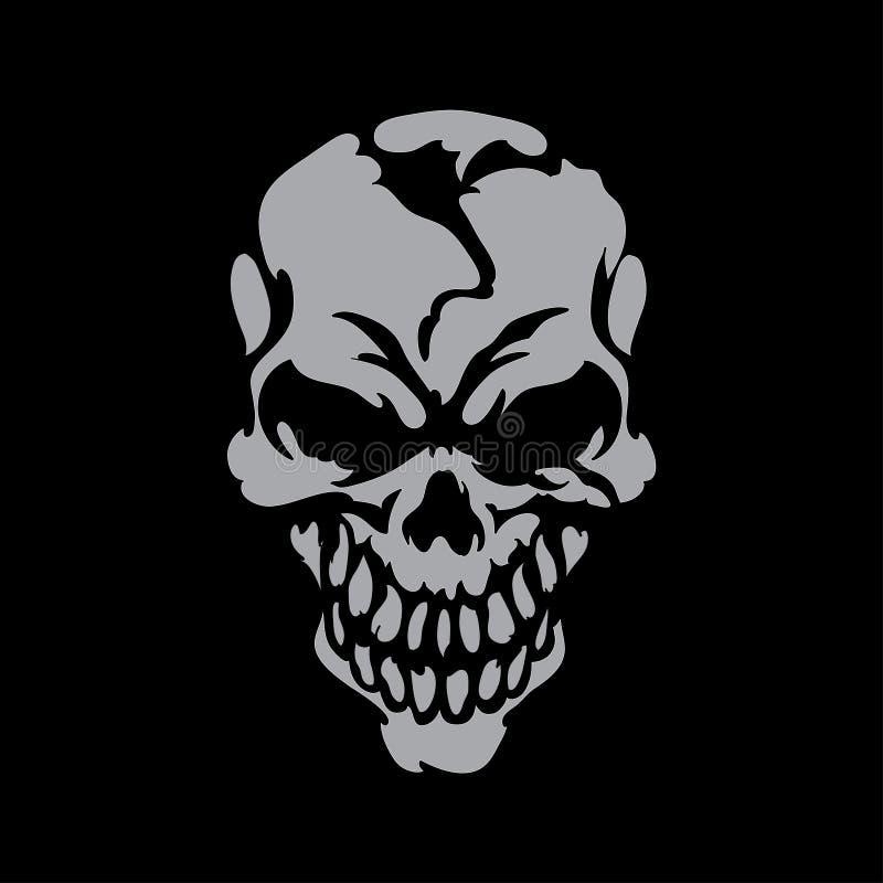 Crâne de sourire illustration de vecteur